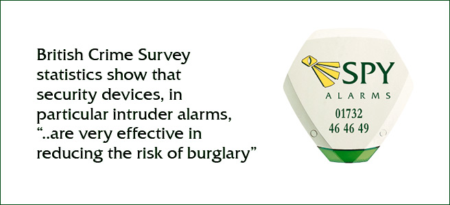 British Crime Survey statistics show that security devices, in particular intruder alarms,