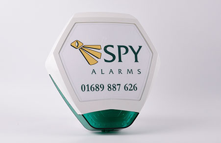 Spy alarms monitored alarm system